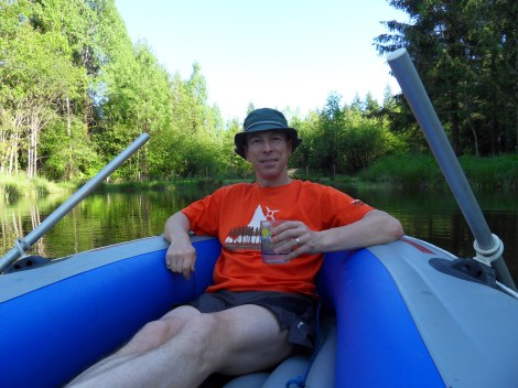The life we imagined -  sipping a G&T on the Queendom's pond
