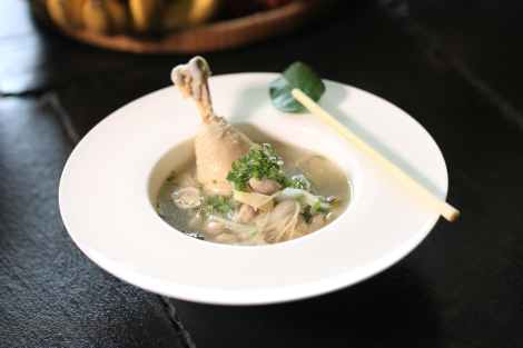 chicken soup dish